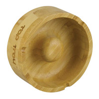 "Pulsar Tap Tray Basic Round Ashtray - 4"" / Bamboo - AFG Dist"