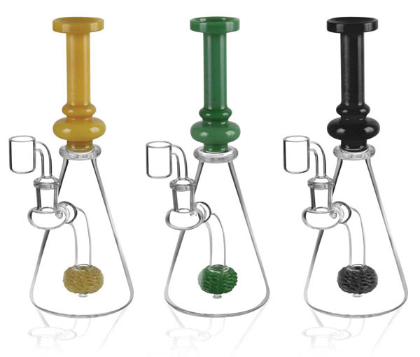 "Pulsar Beaker Sponge Perc Oil Rig - 9""/ 14mm F / Asst Colors"