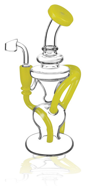 "Pulsar Crazy Legs Recycler Rig - 9"" / 14mm F / Asst Colors"