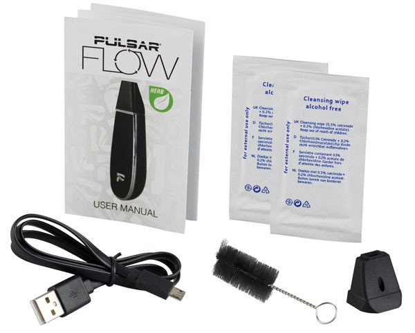 Pulsar Flow Dry Herb Vaporizer - Black / Black - AFG Distribution