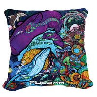 Pulsar Graphic Throw Pillow | Psychedelic Ocean | Master Wholesale