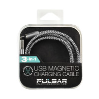 Pulsar Magnetic 3-in-1 USB Charger Cable | Silver | Wholesale