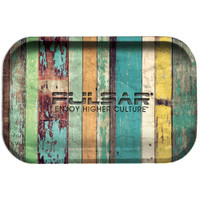 Pulsar Metal Rolling Tray | Wood Grain | Master Distributor