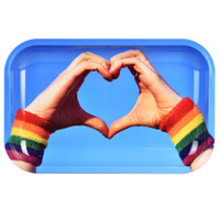Pulsar Metal Rolling Tray | Equality Heart Hands | Wholesale