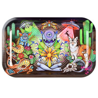 Pulsar Metal Rolling Tray | Psychedelic Desert Design