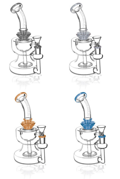Pulsar Two Cup Disc Perc Waterpipe - 8"