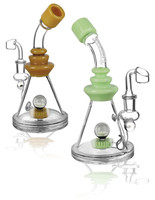 "Pulsar Vase Opal Rig - 9"" / 14mm F / Assorted Colors"