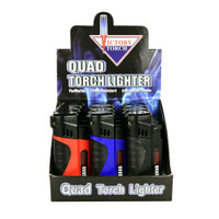Quad Torch Lighter With Cigar Punch | Wholesale Distributor
