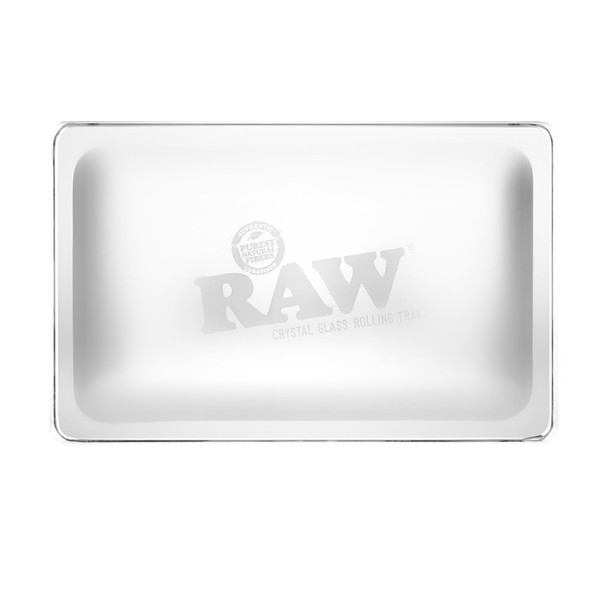 RAW Crystal Glass Rolling Tray | Wholesale Distributor