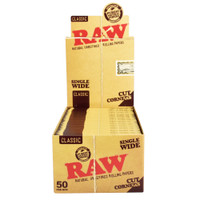 RAW Cut Corners Rolling Papers | Single Wide | Wholesale