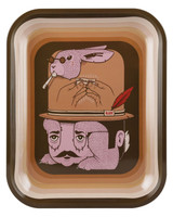 RAW Jeremy Fish Rolling Tray Art Series w/ Lid - Large