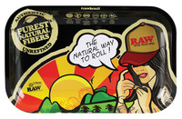 "RAW Rolling Tray Brazil Girl - 11"" x 7"" / Small"