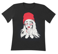 RAW Unisex Smoker Girl T-Shirt - Small - AFG Distribution