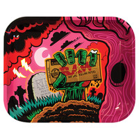 RAW Zombie Large Metal Rolling Tray | Wholesale Distributor