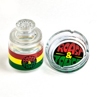 Rasta Ashtray & Stash Jar Set | Roast & Toast | Wholesale