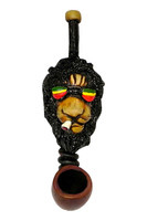 Rasta Lion Hand Pipe - Small / 4.5 - AFG Distribution