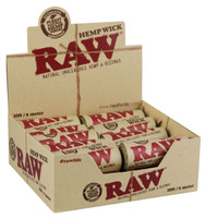 Raw Natural Hemp Wick Rolls - 20pc / 20ft ea - AFG Distribution