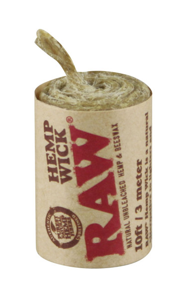Raw Natural Hemp Wick Rolls - 40pc / 10ft ea - AFG Distribution