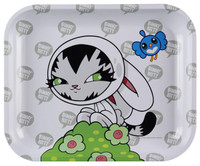 Raw Rolling Tray - Persue Bunny Kitty | Large