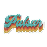 Retro Pulsar Logo Sticker | Wholesale Distributor