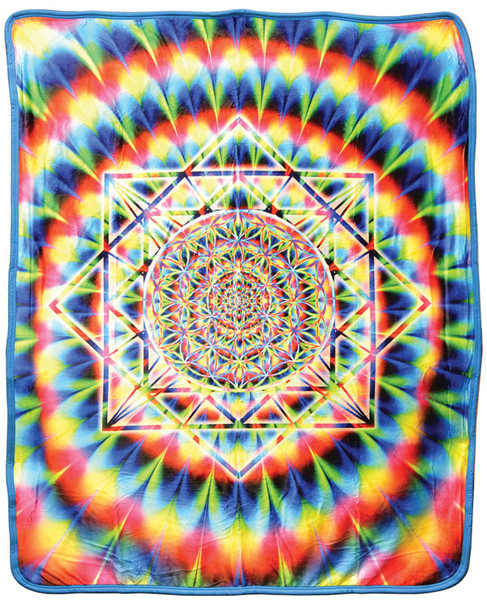 Sacred Geometry Fleece Blanket - Medium Weight