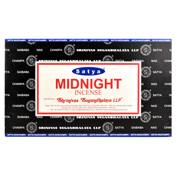 Satya Midnight Incense | 15 Gram | Best Wholesale Distributor