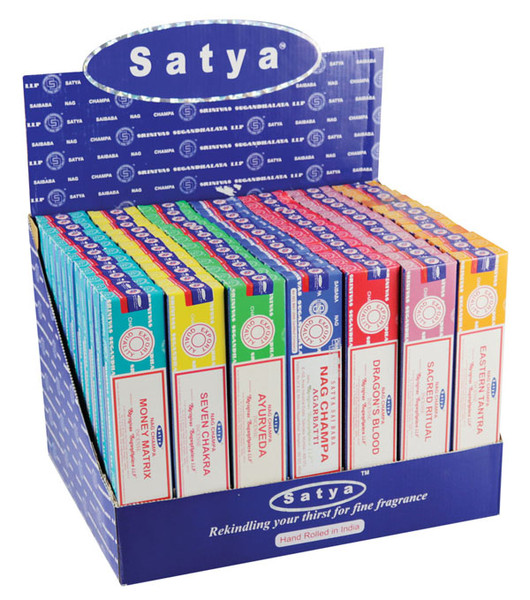 Satya Incense - 84pc Display - VFM 1 Series - Asst. Scents - AFG Dist