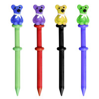 Scarf Wearing Bear Glass Dabber Tool | Wholesale Distributor