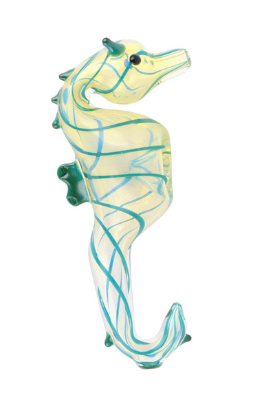 Seahorse Glass Hand Pipe - 4.75"