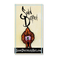 Sean Dietrich Enamel Hat Pin | Orange Orchid | Wholesale Distributor