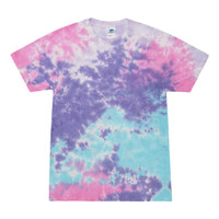 Short Sleeve Tie Dye T-Shirt | Cotton Candy | Small | Wholesale