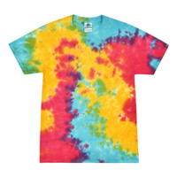 Short Sleeve Tie Dye T-Shirt | Multi Rainbow | Small | Wholesale
