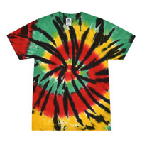 Short Sleeve Tie Dye T-Shirt | Rasta Web | Small | Wholesale