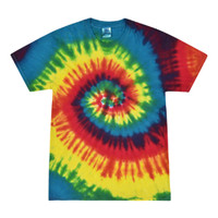 Short Sleeve Tie Dye T-Shirt | Reactive Rainbow | Small | Wholesale