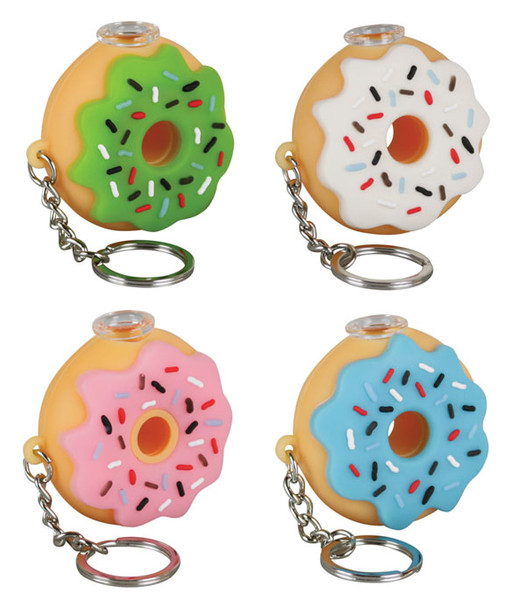 Silicone Donut One Hitter Keychain - 2"