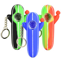 Silicone Flowering Cactus Keychain Pipe | Wholesale Distributor