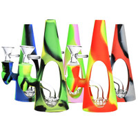 Silicone/Glass Cone Water Pipe | Wholesale Distributor