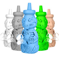 Silicone Honey Bear Skeleton Bubbler | Wholesale Distributor