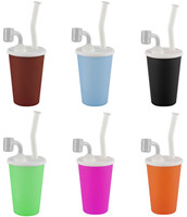 "Silicone Drink Cup Rig - 9"" / 14mm Female / Assorted"