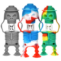 Skeleton Soldier Silicone & Glass Taster | Wholesale Pipes