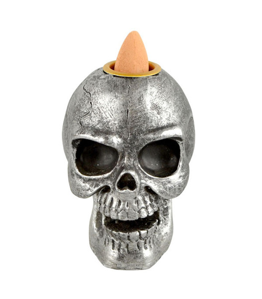 Skull Backflow Incense Burner - Polyresin / 3""