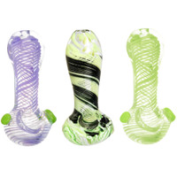 Slime Twist Spoon Pipe | Worked Glass | Master Distributor