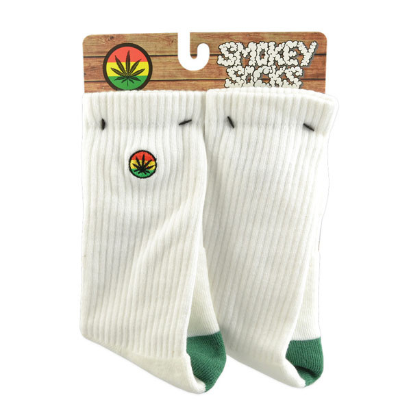 Smokey Brand Socks - Classic | White & Green