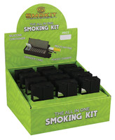 "Smokit Portable Smoking Kit - 2"" / Black / 12pc"