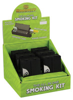 "Smokit Portable Smoking Kit - 2"" / Black / 6pc"