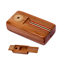Sneaky Tokes Stash 'N Go Wood Smoking Pipe | Striped | Wholesale