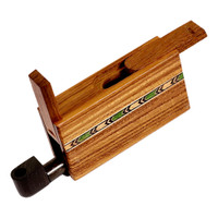 Sneaky Tokes Teakwood Box w/ Ebony One Hit Pipe | Wholesale