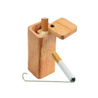 Solid Square Wood Dugout w/ Poker | Small