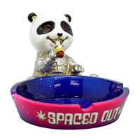 Spaced Out Panda Polyresin Ashtray | Wholesale Distributor
