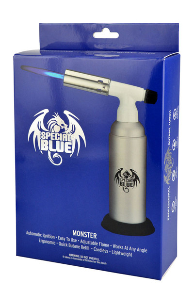 Special Blue Monster Torch Lighter - 8""